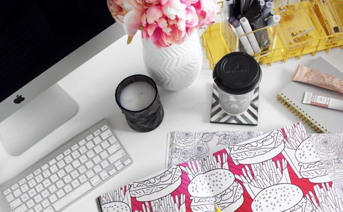 desk envy, work, fashion blogger