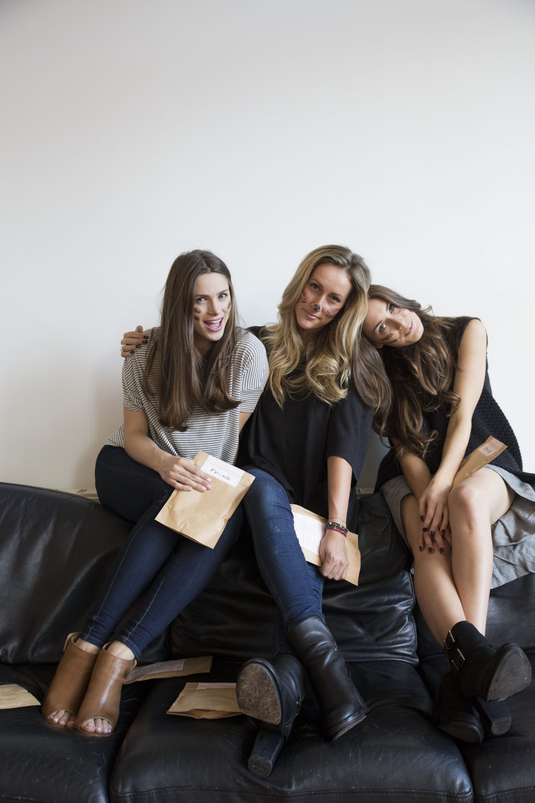 Erika and her frank body Co-Founders